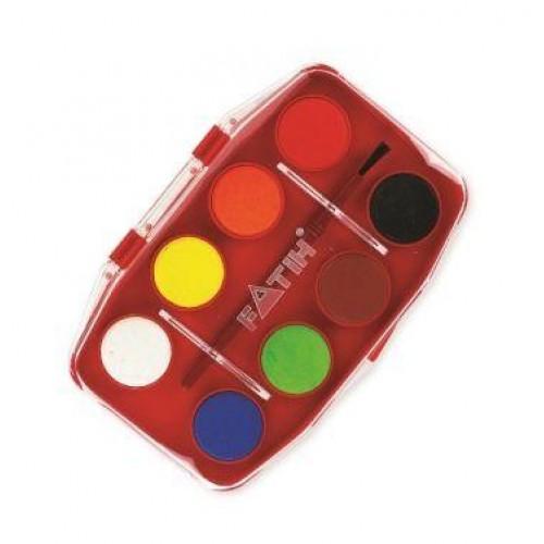 Водна боя FATIH 8 цвята - Канцеларски материали за офиса и училището | Акварел
