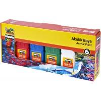 Акрилни бои 6 цвята  ACRYLİC PAİNT 100gr 6 SET