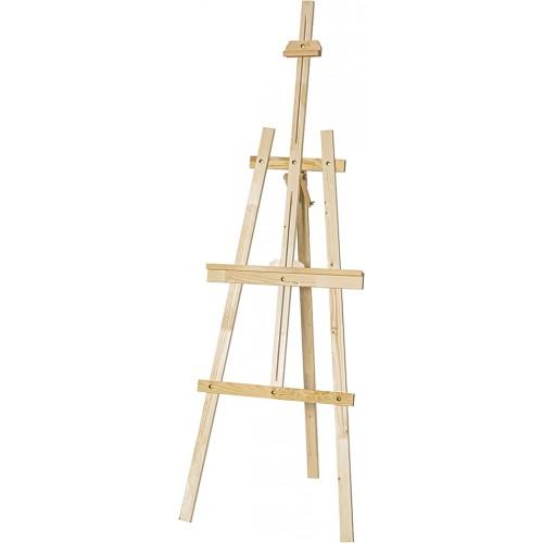 Дървен статив за рисуване 190cm регулируем - Акварел | Канцеларски материали за офиса и училището
