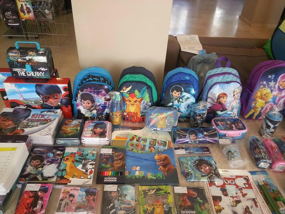 детски играчки, ранички за деца на презентация на Акварел 2017